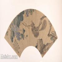 【欣赏级】GH6070217古画花卉植物树木扇面图片-22M-4000X1985