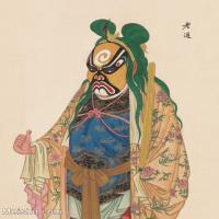 【印刷级】GH6061474古画脸谱(53)-人物-老道册页图片-39M-3308X4138