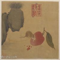 【印刷级】GH6080147古画动物瓜鼠图-小品图片-36M-3939X3199