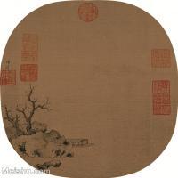 【印刷级】GH6081023古画山水风景赵雍-澄江寒月图-小品图片-38M-3417X3514_7523475