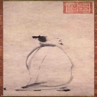 【打印級】GH6086145古畫人物宋-梁楷-李白吟行-東京博物館立軸圖片-90M-3037X7743_1920075