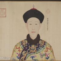 【印刷级】GH6151058古画册页人物清郎世宁高宗帝后像-高帝图片-10M-2004X1785