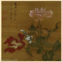 【欣賞級】GH6080444古畫花卉鮮花鳥-大英博物館-平敬勝國畫工筆畫-25x36.5-40x58-小品圖片-25M-2462X3582