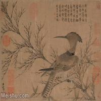 【印刷级】GH6105037古画镜片赵孟頫赵子昂-幽篁戴胜图图片-83M-4952X3500_7526003