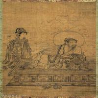 【打印級】GH6086138古畫人物宋-佚名-維摩居士圖軸-絹本91x51立軸圖片-48M-2919X5000_1908859