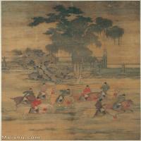 【印刷级】GH6086275古画人物赵喦-八达春游图立轴图片-64M-3780X5954_5044744