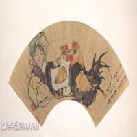 【欣赏级】GH6070198古画人物扇面图片-5M-2000X1031