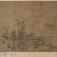【超顶级】GH7280175古画山水风景郭熙窠石平远图卷 镜片图片-321M-11881X9449
