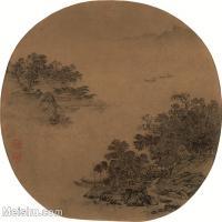 【印刷级】GH6080929古画山水风景佚名-江浦秋亭图-小品图片-50M-4162X3825