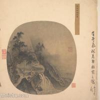 【印刷级】GH6081117古画山水风景南宋马远宋观瀑图小品图片-33M-3589X3266