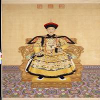 乾隆皇帝朝服像轴-清朝-人物