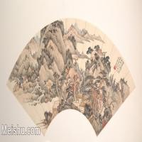 【欣赏级】GH6070383古画山水风景扇面图片-5M-2000X1011