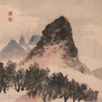 【印刷级】GH6062470古画石涛-设色山水(11)册页图片-42M-3930X3343