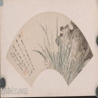 【印刷级】GH6040266古画扇面兰石图图片-72M-6894X3673_18129812