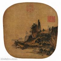 【印刷级】GH6156209古画楼台山水小品图片-43M-3469X4343