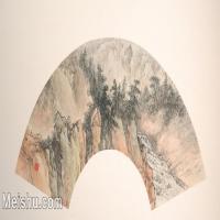 【欣赏级】GH6070385古画山水风景扇面图片-5M-2000X1007