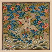 【印刷级】GH6063361古画古代官服刺绣图案孔雀凤凰册页图片-42M-3895X3817_13765559