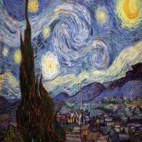 梵高-星月夜画作赏析