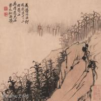 【印刷级】GH6062477古画石涛-设色山水(7)册页图片-40M-3936X3348