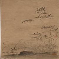 【印刷级】GH6040071古画立轴-清 汪士慎-兰竹石图轴图片植物-156M-3617X11373_56851974
