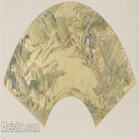【打印级】GH6070411古画山水风景明 仇英 兰亭图扇面扇面图片-35M-5020X2494