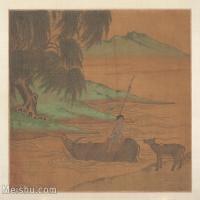 【印刷级】GH6080130古画动物宋代李唐山水风景人物骑牛渡河小品图片-37M-4000X3300