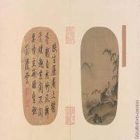 【印刷级】GH6080941古画山水风景南宋-无款竹涧焚香图页小品图片-117M-8986X4552