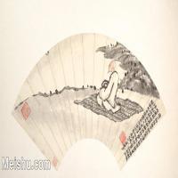 【欣赏级】GH6070194古画人物扇面图片-6M-2000X1050