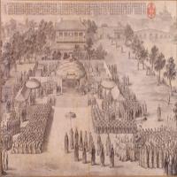 郎世宁等平定西域战图册之凯宴成功诸将士-清朝-人物