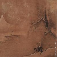 【印刷级】GH7280088古画山水风景宋 佚名 寒雪牧归图册镜片图片-73M-6308X4066
