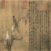 【超顶级】GH7280217古画花鸟宋 赵佶 五色鹦鹉图镜片图片-118M-9990X4163