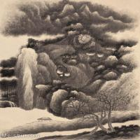 【打印级】GH6087020古画山水风景立轴图片-39M-2807X3703