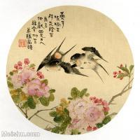 【印刷级】GH6080439古画花卉鲜花鸟-清代名家-燕子杜鹃-小品图片-17M-2480X2458-17M-2480X2458