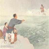 【印刷级】GH6061520古画牛郎咫尺天涯-人物-离别-大海册页图片-82M-5288X4089