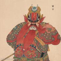 【印刷级】GH6061448古画脸谱(3)-人物-灵官册页图片-39M-3314X4131