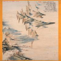 【超顶级】GH7280142古画山水风景清 恽寿平花隝夕阳图镜片图片-115M-13088X3071