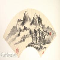 【欣赏级】GH6070375古画山水风景扇面图片-5M-1995X1020