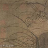【印刷级】GH6080358古画花卉鲜花鸟鹌鹑图故宫博物院藏-宋-佚名国画水墨-34x30-68x60-小品图片-91M-6018X5294