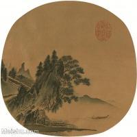 【印刷级】GH6081359古画山水风景-宋代山水小品树林木河流-小品图片-43M-3558X3466_2069696