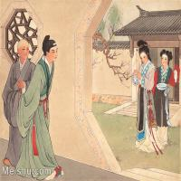 【印刷级】GH6061767古画西厢记-人物-女人-初遇册页图片-26M-3547X2666