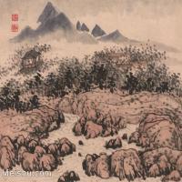 【印刷级】GH6062479古画石涛-设色山水(9)册页图片-44M-3929X3346