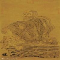 【打印級】GH6086141古畫人物宋-劉松年-羅漢圖-2代絹63.89x127立軸圖片-74M-3147X6265_1912104
