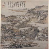 【欣赏级】GH6088739古画山水风景清-髡残-层岩叠壑图轴立轴图片-28M-1994X5081_56832583