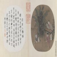 【印刷级】GH6080656古画人物蕉阴击球图页北京故宫博物院-宋-苏汉臣国画水墨-60.5x30-141x70-孩童-玩耍-小品图片-106M-8648X4286