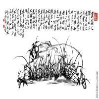 【超顶级】GH7280515古画植物郑板桥《兰》镜片图片-393M-15433X7559