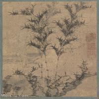 【印刷级】GH6080802古画树木植物唐绘手鑑笔耕园-小品图片-65M-4425X5141