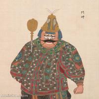 【印刷级】GH6061459古画脸谱(4)-人物-门神册页图片-39M-3315X4148