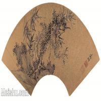 【欣赏级】GH6070238古画花卉植物树木扇面图片-10M-2737X1363