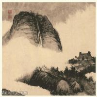 【印刷级】GH6060123古画石涛设色山水风景册页图片-54M-4069X3455_56937650