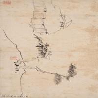【印刷级】GH7280144古画山水风景清 汪之瑞 山水册页 纸本 镜片图片-60M-5848X2688